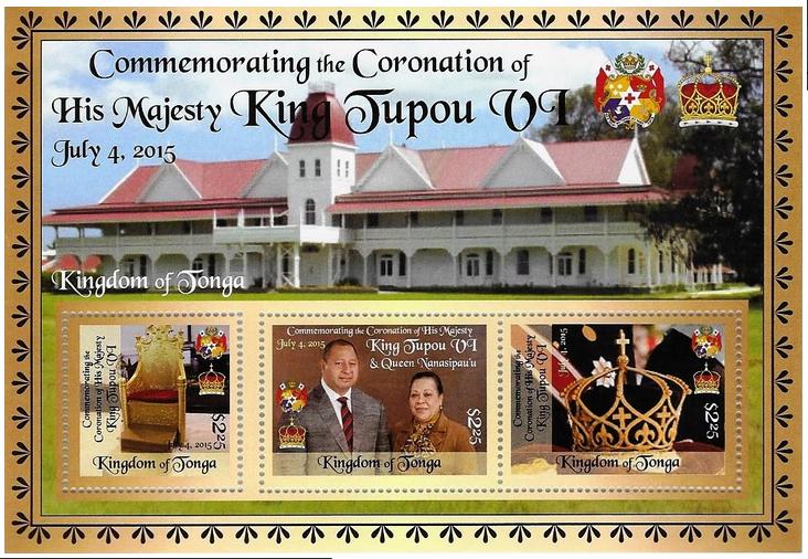 King Tupou VI & Queen Nanasipau'u Coronation Stamp Issue 2015